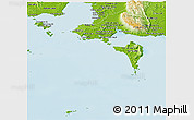 Physical Panoramic Map of Tonle Sap