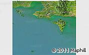 Satellite Panoramic Map of Tonle Sap