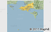 Savanna Style Panoramic Map of Tonle Sap