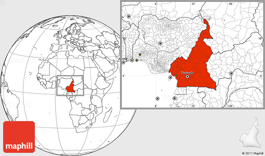 Blank Location Map Of Cameroonrhmaphill: Cameroon Map Location At Elf-jo.com