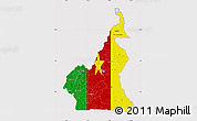 Flag Map of Cameroon