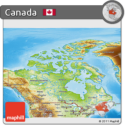 Free Physical D Map Of Canada - Physical map of canada