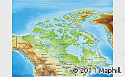 Physical 3D Map of Canada