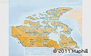 Political Shades 3D Map of Canada, lighten