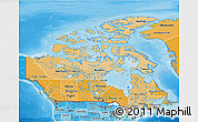 Political Shades 3D Map of Canada