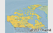 Savanna Style 3D Map of Canada