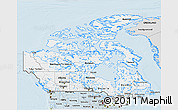 Silver Style 3D Map of Canada