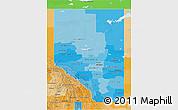 Political Shades 3D Map of Alberta