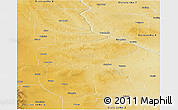 Physical Panoramic Map of Division No.  5