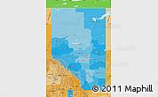 Political Shades Map of Alberta