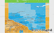 Political Shades Panoramic Map of Alberta