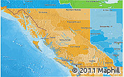 Political Shades 3D Map of British Columbia