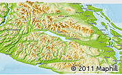 Physical 3D Map of Cowichan Valley