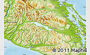 Physical Map of Cowichan Valley