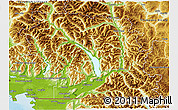 Physical 3D Map of Fraser Valley