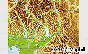 Physical Map of Fraser Valley
