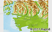 Physical 3D Map of Greater Vancouver