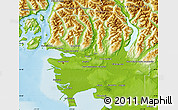 Physical Map of Greater Vancouver