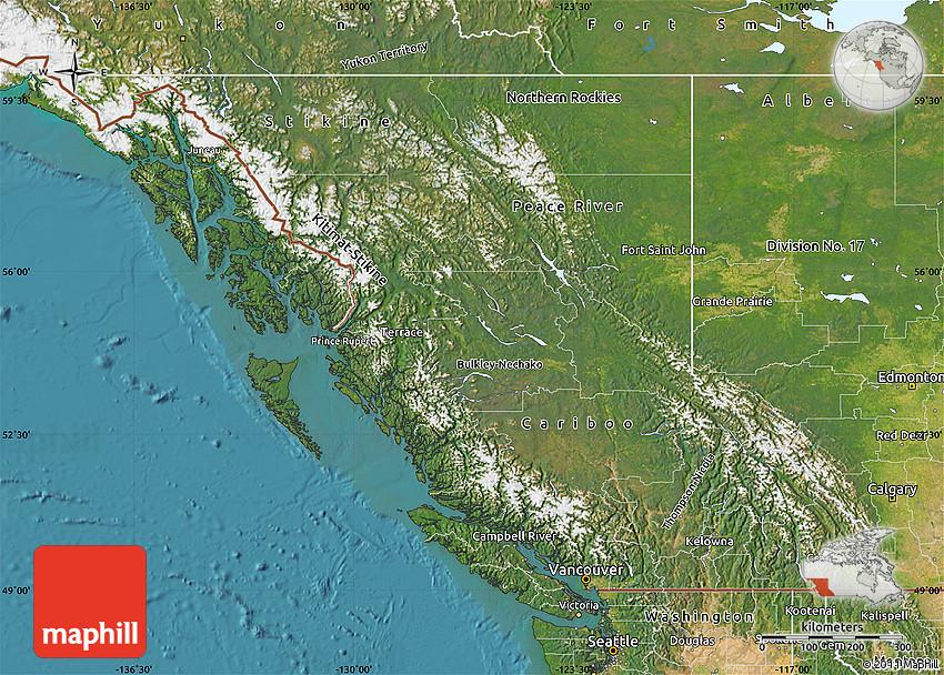 satellite-map-of-british-columbia Political Map Of Canada With British Columbia on large maps of british columbia, alberta canada map british columbia, google maps canada british columbia,