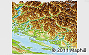 Physical Panoramic Map of Powell River