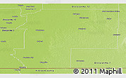 Physical Panoramic Map of Division No.  2