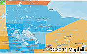 Political Shades Panoramic Map of Manitoba