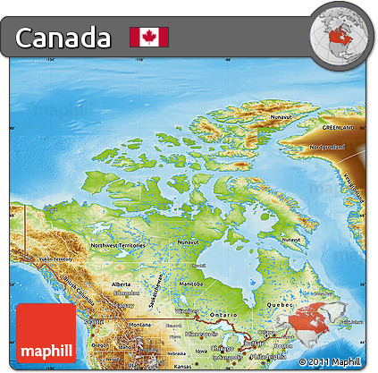 Free Physical Map Of Canada - Physical maps of canada
