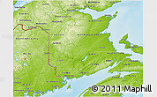 Physical 3D Map of New Brunswick