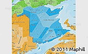 Political Shades Map of New Brunswick