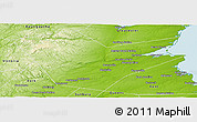 Physical Panoramic Map of Northumberland