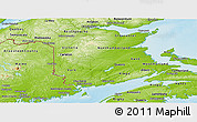 Physical Panoramic Map of New Brunswick