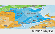 Political Shades Panoramic Map of New Brunswick
