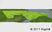 Physical Panoramic Map of Westmorland, darken