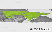 Physical Panoramic Map of Westmorland, desaturated