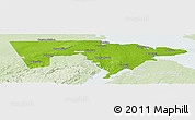 Physical Panoramic Map of Westmorland, lighten