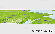 Physical Panoramic Map of Westmorland