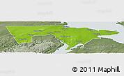 Physical Panoramic Map of Westmorland, semi-desaturated