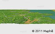 Satellite Panoramic Map of Westmorland