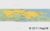 Savanna Style Panoramic Map of Westmorland