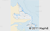 Classic Style 3D Map of Newfoundland and Labrador, single color outside
