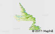 Physical 3D Map of Newfoundland and Labrador, cropped outside