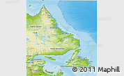 Physical 3D Map of Newfoundland and Labrador