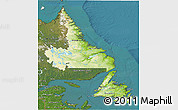 Physical 3D Map of Newfoundland and Labrador, satellite outside