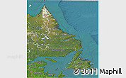 Satellite 3D Map of Newfoundland and Labrador