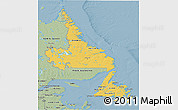 Savanna Style 3D Map of Newfoundland and Labrador