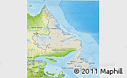 Shaded Relief 3D Map of Newfoundland and Labrador, physical outside