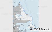 Gray Map of Newfoundland and Labrador