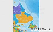 Political Map of Newfoundland and Labrador