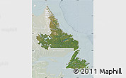 Satellite Map of Newfoundland and Labrador, lighten