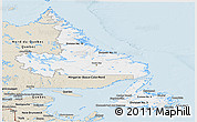 Classic Style Panoramic Map of Newfoundland and Labrador